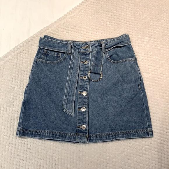 Denim skirt, size small